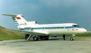 Фото самолёта Як-40